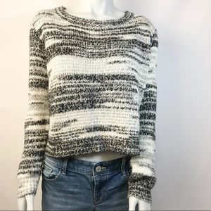 H&M DIVIDED Wide Neck Cropped Knit Sweater